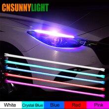 CNSUNNY светильник водонепроницаемый тонкий Янтарный последовательный гибкий светодиодный DRL полоса для автомобиля дневной ходовой светильник DRLs желтый указатель поворота