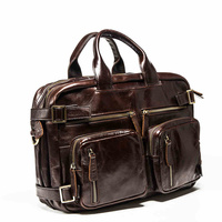 2017 теперь houlder сумка натуральная кожа бизнес мешок отдыха ретро 100% Корова первый слой кожаный мешок 14 дюймов портфель
