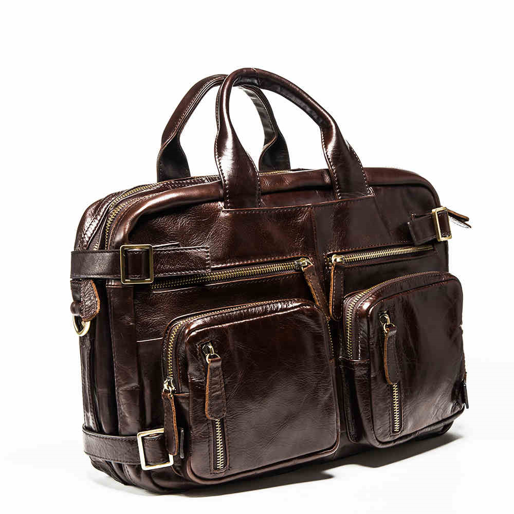 2017 now houlder Messenger Bag genuine leather business leisure bag retro 100% cow first layer of leather bag 14inch briefcase 2017 now houlder messenger bag genuine leather business leisure bag retro 100% cow first layer of leather bag 14inch briefcase