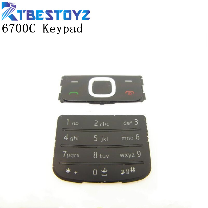 For <font><b>Nokia</b></font> <font><b>6700</b></font> Classic <font><b>Housing</b></font> Keypad Mobile Phone 6700C Keyboard Replacement Golden Silver Black Russian Keypad New image