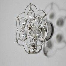 Amerikanischen Kreative Kunst Retro Schlafzimmer Wohnzimmer Lampe Nachttischlampe Kristall Rural Europischen Einfache Eisen Gan