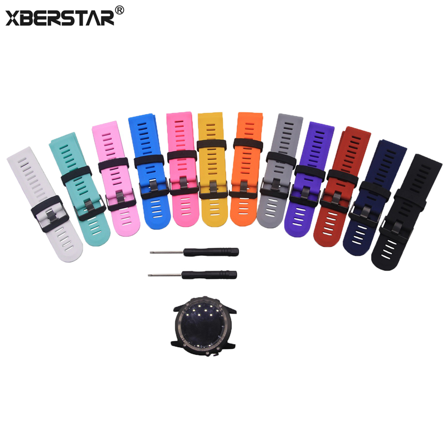 Silicone Rubber Wrist Band Watch Strap For Garmin Fenix 3 Fenix3 HR Heart Rate GPS Watchbands Intelligent Accessory with tools