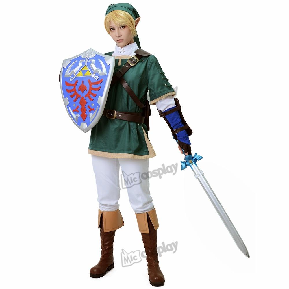 Anime Link Cosplay Kostym - Legenden om Zelda Link Halloween Party Kläder Cosplay Outfit