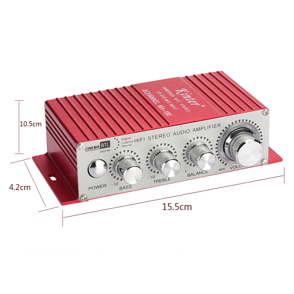 Metal DC MA180 Audio Amplifier Stereo Home Car Styling Power