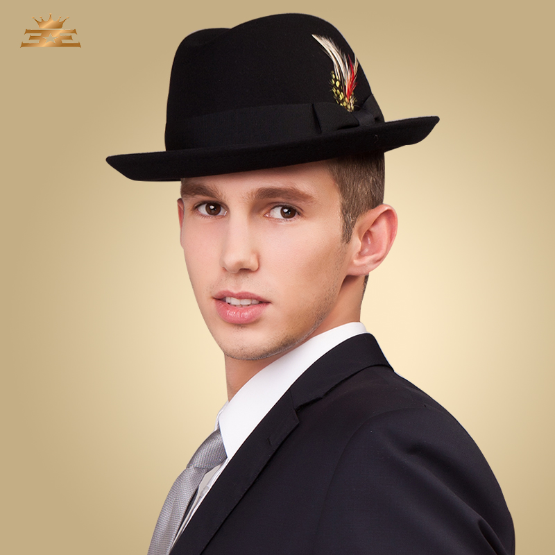 61af9d00bcf 2016 Men s warm Wool Headpiece Casual occasion Hats Round hat for men-in  Fedoras from Apparel Accessories on Aliexpress.com