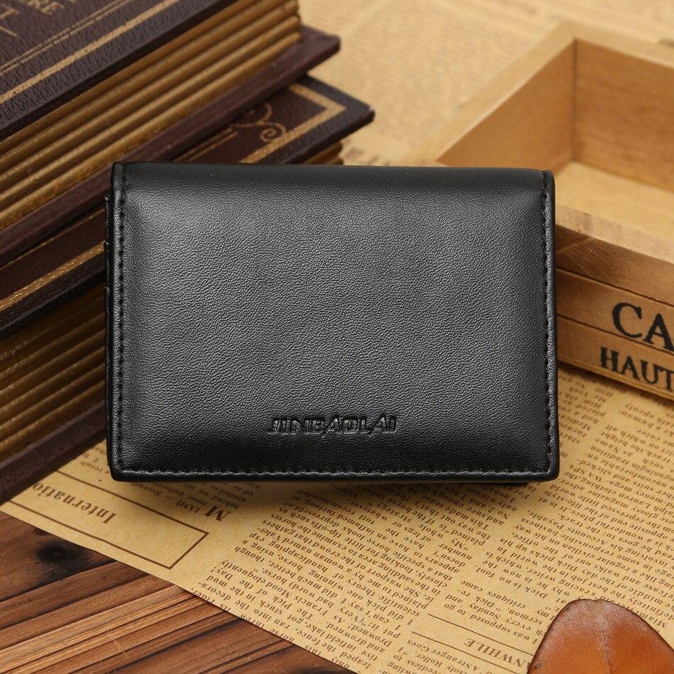 100% Wahr Neue Ankunft Qualität Männer Visitenkarte Brieftaschen Mode Lackleder Schwarz Braun Farbe 2 Falten Kartenhalter Freies Verschiffen