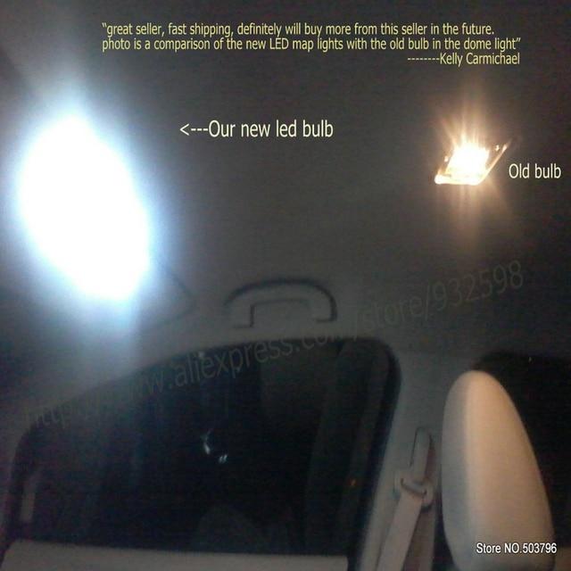 Car Led Reading Light For 2012 Chrysler 200 Dome Map trunk License plate lamp 8pc 3