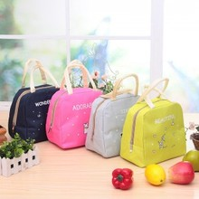Cartoon animal portable lunch storage bag thickened 25*23*14cm  free shipping