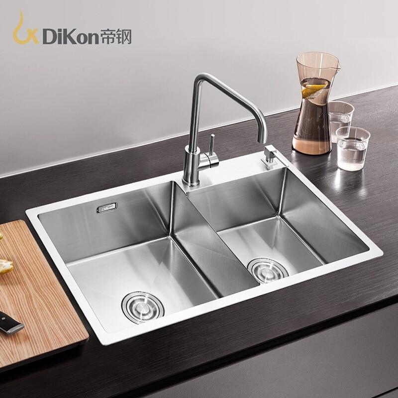 Popular Double Kitchen Sinks Undermount-Buy Cheap Double Kitchen ...