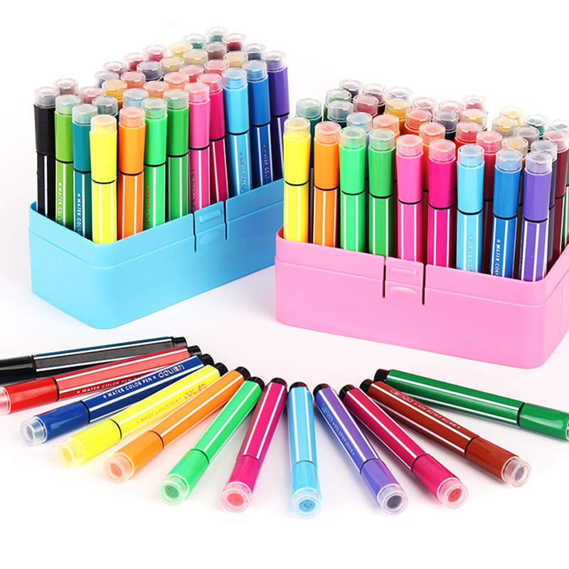 Washable Watercolor Pen  Art Supplies For Kids Seal Office School Supplies Painting Supplies Gift For Children Art Marker