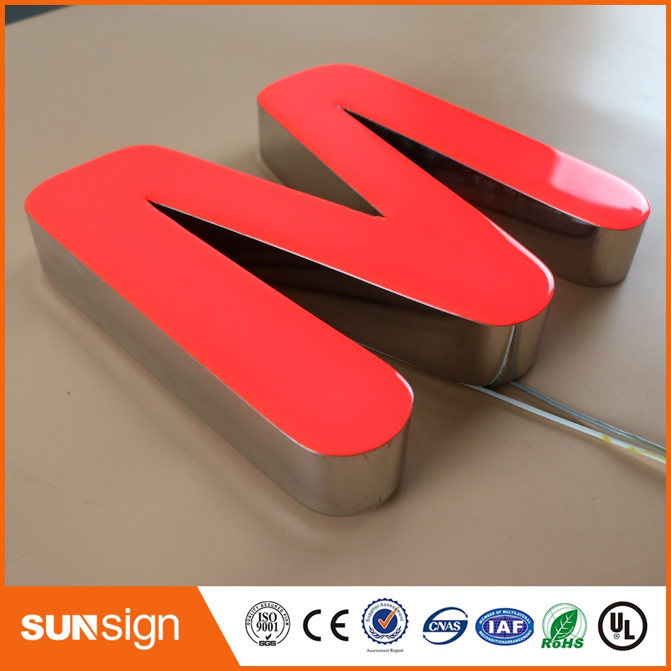 Front Lit Epoxy Resin Alphabet LED Channel Letter Sign