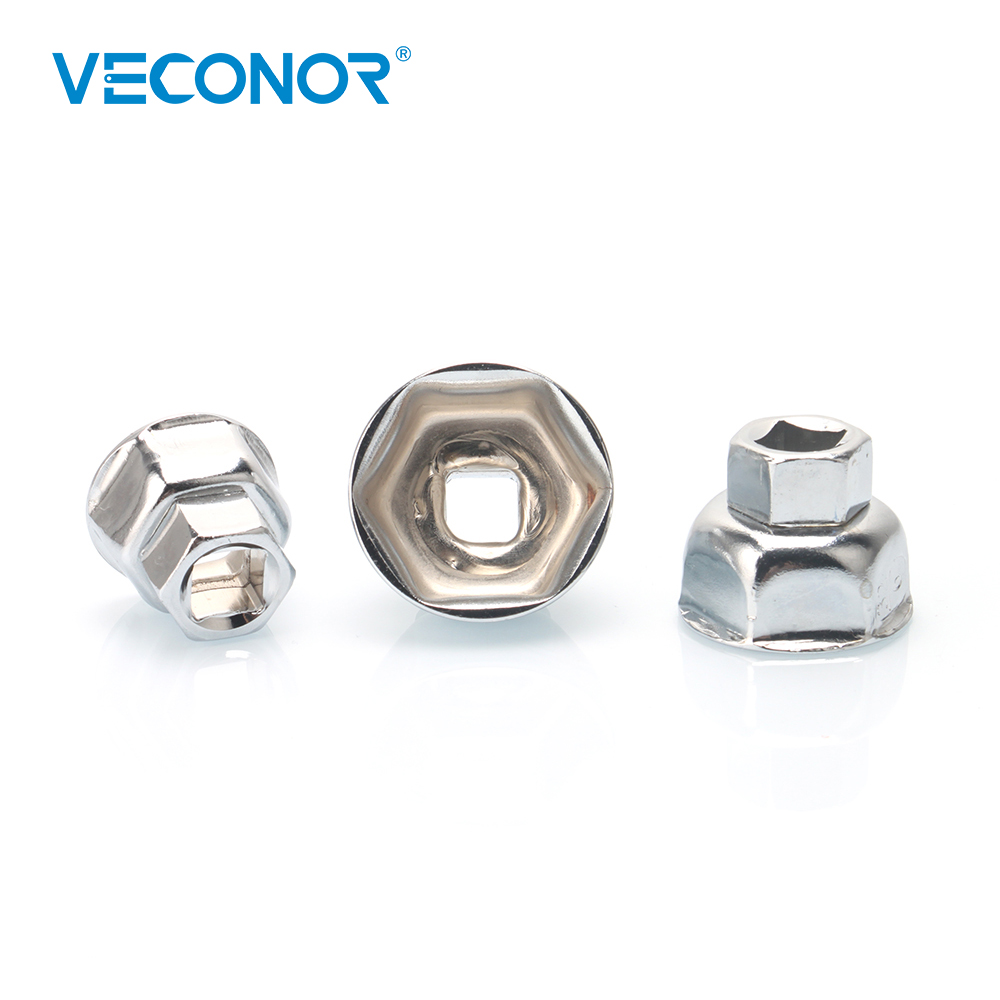 Veconor Oil Filter Wrench Cap Housing Removal Tool 6 Flutes 27MM 32MM 36MM  1/2