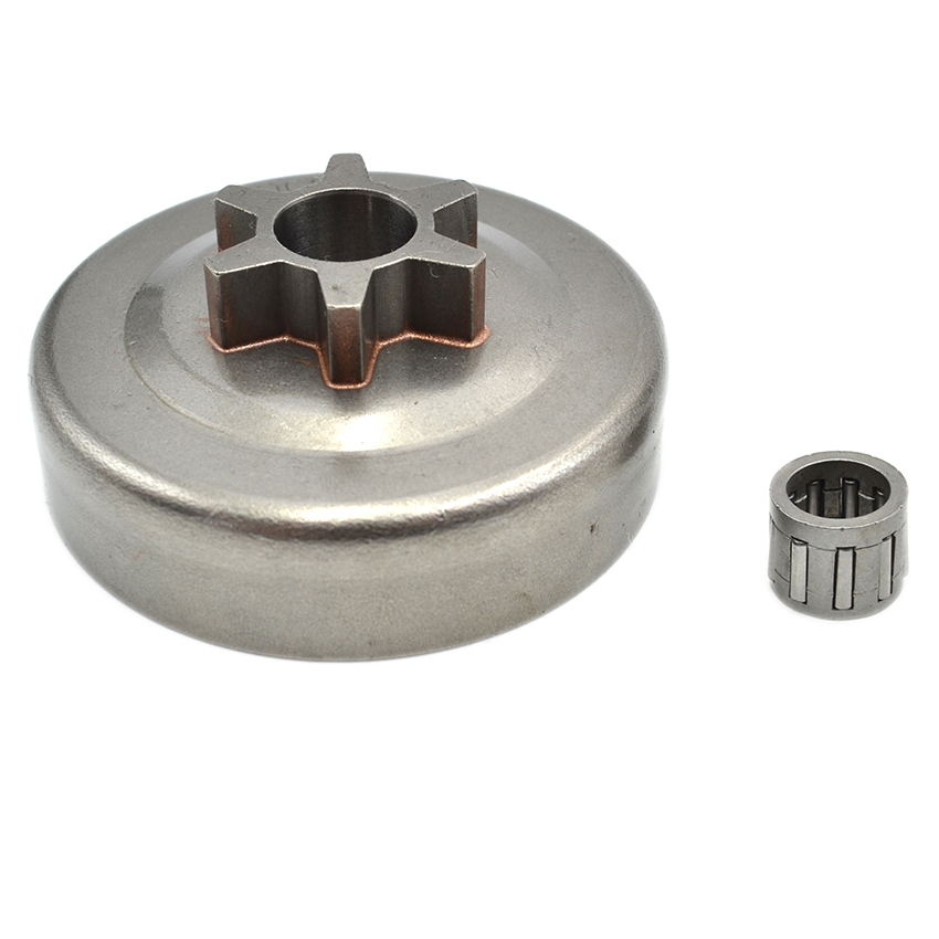 6 Teeth 3/8 Spur Chainsaw Sprocket Clutch Drum Needle Bearing Part Fit For Partner 350 351 Chainsaw Engine Parts