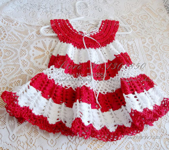 Handmade Knitted Toddles Dress Special Occasion Girls Dress Baby