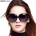 Bluekiki Женщины Поляризованные Солнцезащитные Очки Ретро Большой Рамка ПК Дизайн Круглые Очки Роскошные Дамы Вождения óculos de sol Бесплатная Доставка