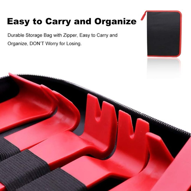 Car Trim Removal Tools Kit Auto Panel Dash Audio Radio Removal Installer Repair Pry Tools Kit Fastener Removal with Storage bag