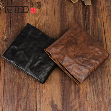 цены на AETOO Handmade retro full sheepskin purse wallet short paragraph men and women wallet cross section youth Vintage wallet  в интернет-магазинах