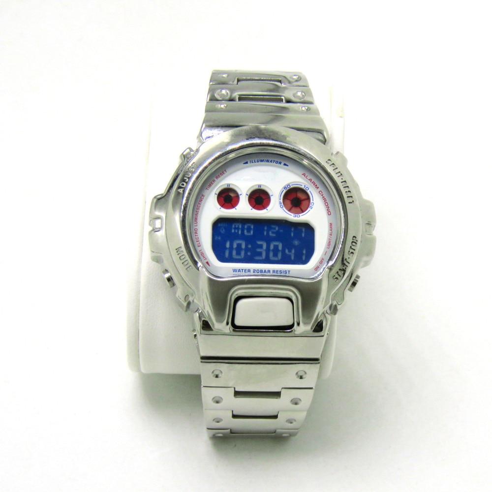 316 الفولاذ المقاوم للصدأ مربط الساعة والحافة ل DW6900 DW6930 حزام (استيك) ساعة حزام سوار غطاء ل G نمط التبعي الأصلي تصميم-في اشرطة الساعات من ساعات اليد على  مجموعة 1