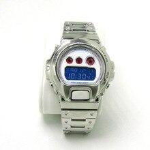 316 ze stali nierdzewnej Watchband i Bezel dla DW6900 DW6930 Watch Band bransoletka z paskiem pokrywa dla G styl akcesoria oryginalny Design
