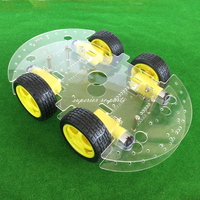 Acrylic Intelligent Smart R1 Car With Four Gear Motor Four Drive Frame Chassis Wifi Control For