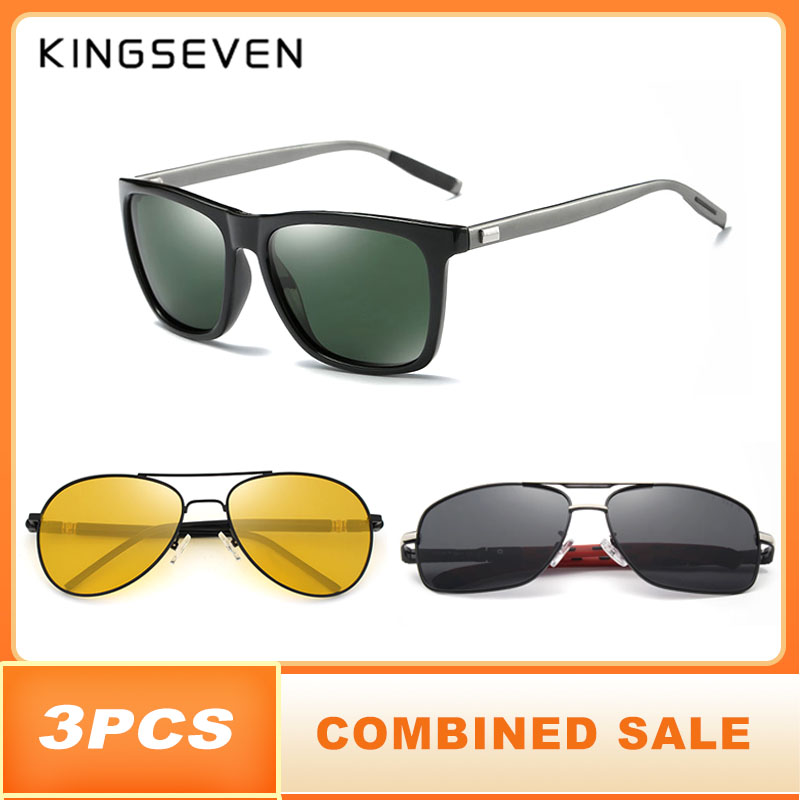 3PCS KINGSEVEN Polarized Sunglasses For Men 2