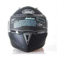 Jiekai capacete de segurança  capacete masculino de corrida com viseira dupla  lente dupla  para moto