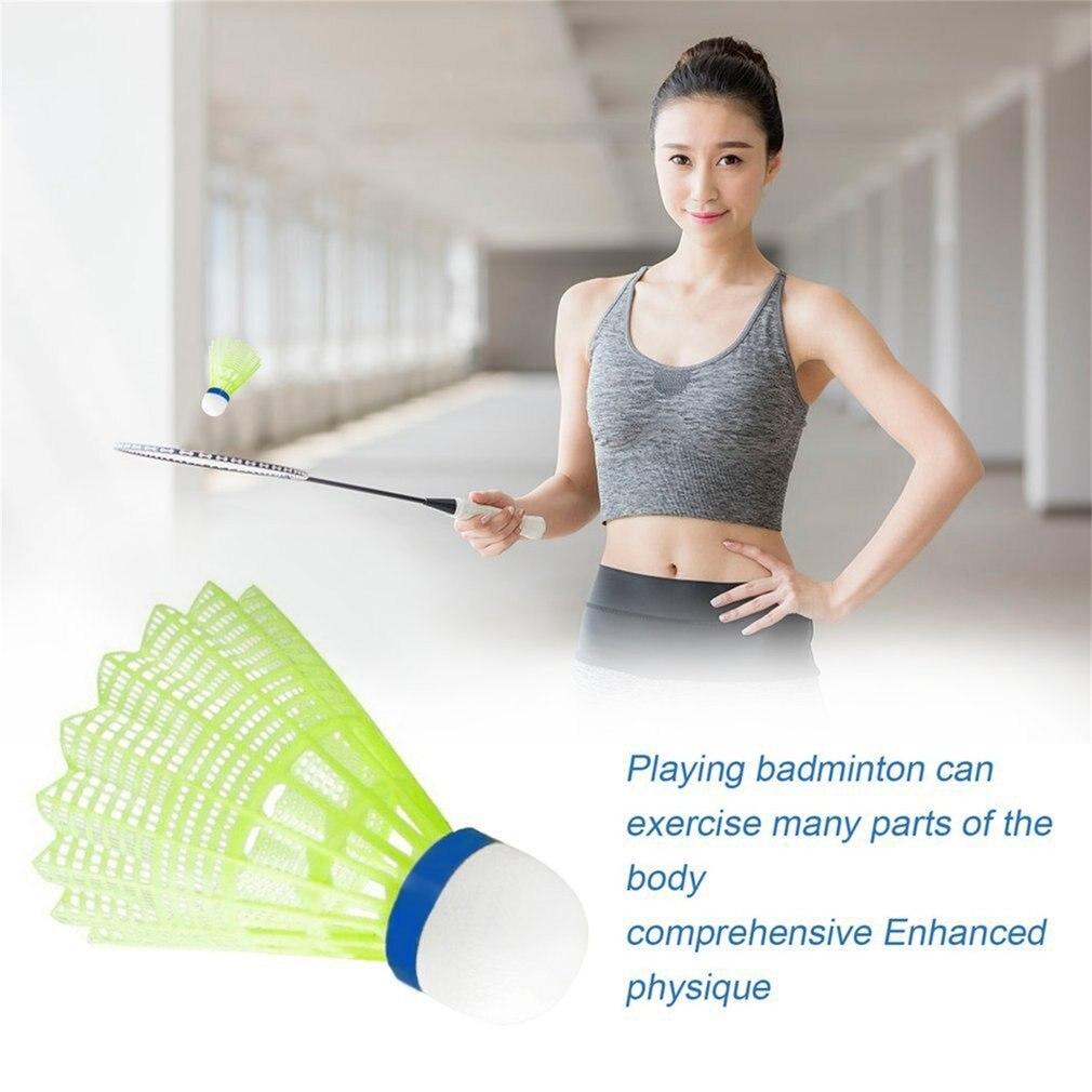6pcs Super Durable And Light Plastic Nylon Badminton Ball Training Ball Plastic Shuttle Cork Wood Ball Head