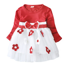 hot deal buy kids' clothing baby girls dresses baby girls bow dress cotton kids cute princess mesh dresses outfits dress for girls