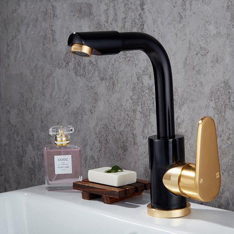 Black And Gold Kitchen: Space Aluminum Black And Gold Kitchen Faucet Vegetable