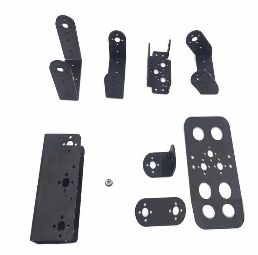 Сервокронштейн для стандартного сервопривода/подшипника для DIY человекоподобный робот/roobot arm части/робот аксессуары/черный