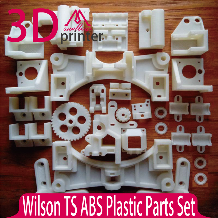 Hot sale!!! Reprap Wilson TS 3D Printer Required ABS Plastic Parts Set Printed Parts Kit Free Shipping colorful reprap i3 rework 3d printer pla required pla plastic parts set printed parts kit mendel i3 free shipping