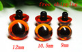 free shipping!!! 9mm/10.5mm/12mm can choose amber color Button safety toy eyes