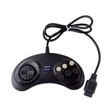 חדש 6 כפתורים דיגיטליים Wired בקר Pad עבור Sega Mega Megadrive Gamepad ג ויסטיק עבור Sega Genesis MD