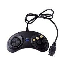 Yeni 6 dijital düğmeler kablolu denetleyici pedi Sega Mega sürücü Megadrive Gamepad Joystick Sega Genesis için MD