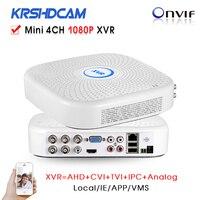 4Channel DVR 1080N Hybrid XVR 4ch For AHD CVI TI 960H D1 Camera P2P IP Recorder