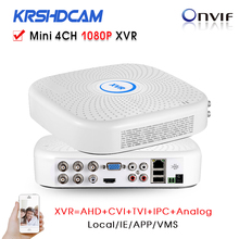 4Channel MINI CVI/TVI/AHD-H AHD-M DVR 1080P Hybrid XVR 960H D1 P2P IP recorder ONVIF Network mini NVR H.264 for 2MP IP Camera