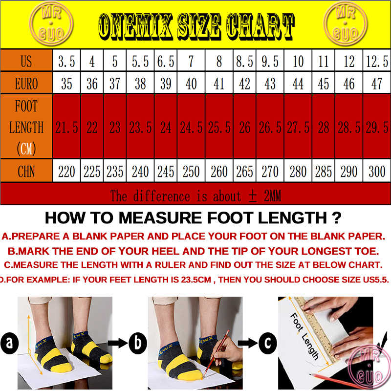 Onemix รองเท้าวิ่งชายรองเท้าผู้หญิงสีดำตาข่าย Air Breathable Designer Gym Jogging รองเท้าผ้าใบรองเท้ากีฬากลางแจ้งเทนนิส Trainers