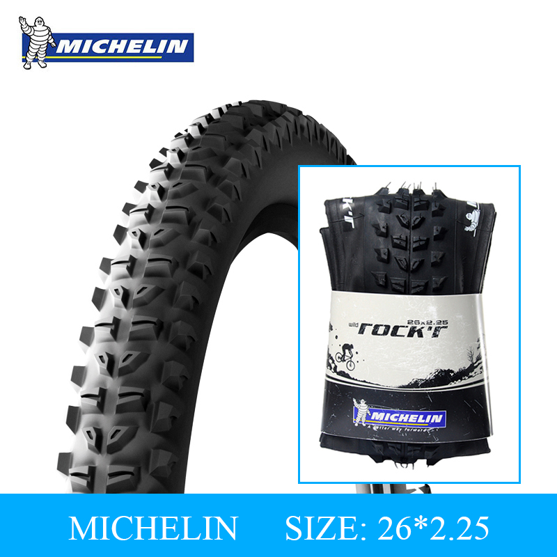 MICHELIN Bicycle Tire Tyre 26*2.25 Mountain Bike Foldable Tire High Quality Rubber Anti-skid Durable Bike Outer Tire 60TPI michelin pro4 service course bicycle tire