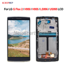 Pantalla LCD para LG G Flex 2 H950 H955 LS996 US995 MONTAJE DE digitalizador con pantalla táctil sin marco para LG G Flex2, piezas de repuesto lcd