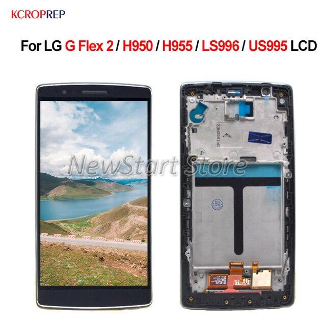 Per LG G Flex 2 H950 H955 LS996 US995 Display LCD Touch Screen Digitizer Assembly Senza Cornice Per LG G flex2 lcd Parti di Ricambio