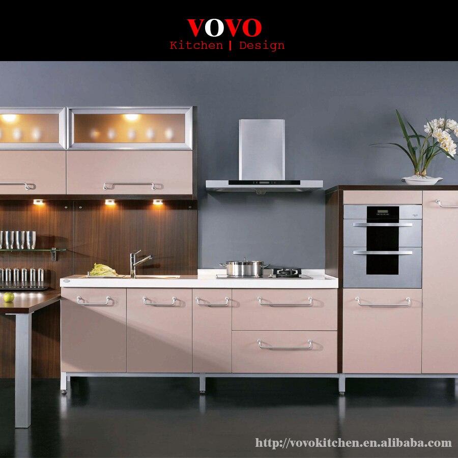 modernos laca gabinetes de cocina con encimera de cuarzo