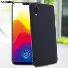 Apsudev soft TPU matte black Phone Cases For vivo X21 UD Version X21i thin ultra back cover X20 Plus fundas