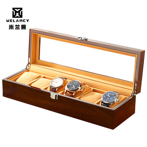 Image 2 - Yeni ahşap İzle ekran kutusu organizatör siyah Top İzle ahşap durumda moda İzle depolama hediye paketi kutuları mücevher durumda