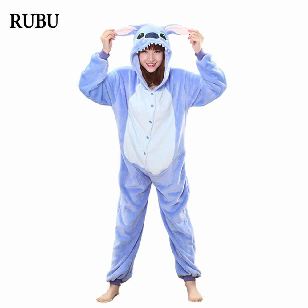 ... Onesie Зима взрослых унисекс пижамы с животными из мультфильмов  Хэллоуин костюм для косплея с капюшоном пижамы daa28e1b96b34