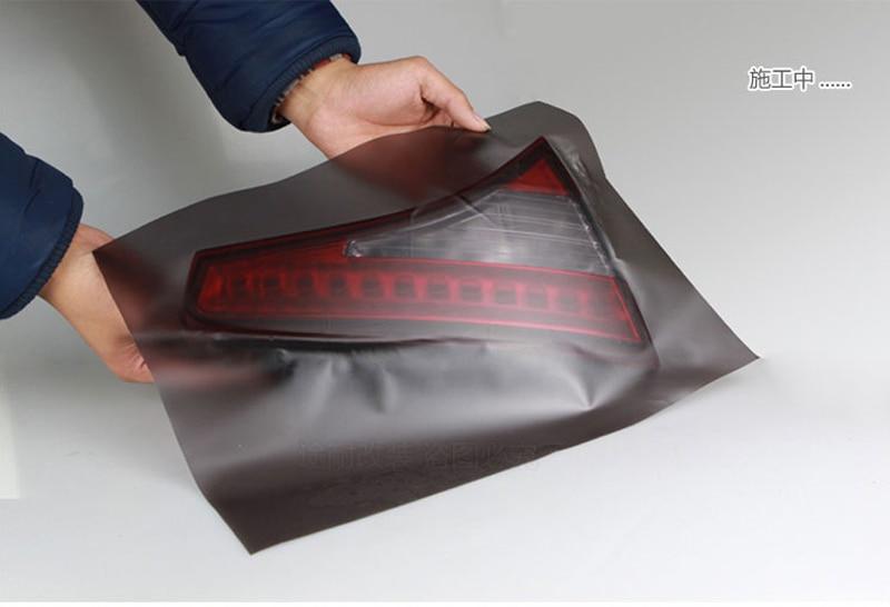 Film de teinte de phare de voiture | Papier autocollant de lampe de voiture, pour style de voiture, 30CMX100/200/300CM feuille de Film vinyle noir mat