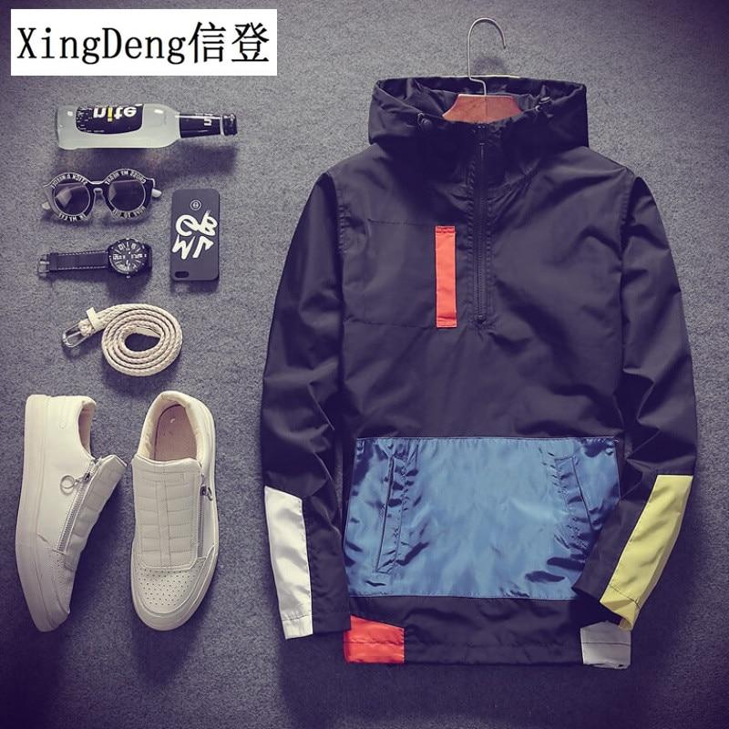 XingDeng Casual Waterproof Hooded Fashion Men's Top Jackets Coats Men Outerwear Casual Brand Male Clothing Plus 5XL