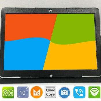 2.5D экран Google 10,1 дюймов Оригинальный 3g телефонный звонок Android 7,0 четырехъядерный ips ПК планшет WiFi android планшетный ПК Бесплатный Подарочный чех...