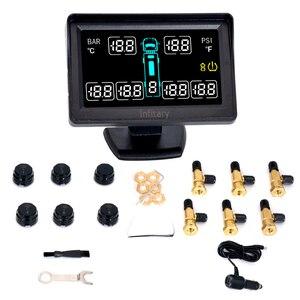 Image 4 - Chất lượng hàng đầu báo động xe kiểu dáng xe TPMS cho xe tải hỗ trợ 6 bánh xe áp suất lốp MÀN HÌNH LCD có hệ thống 6 Bên Ngoài cảm biến