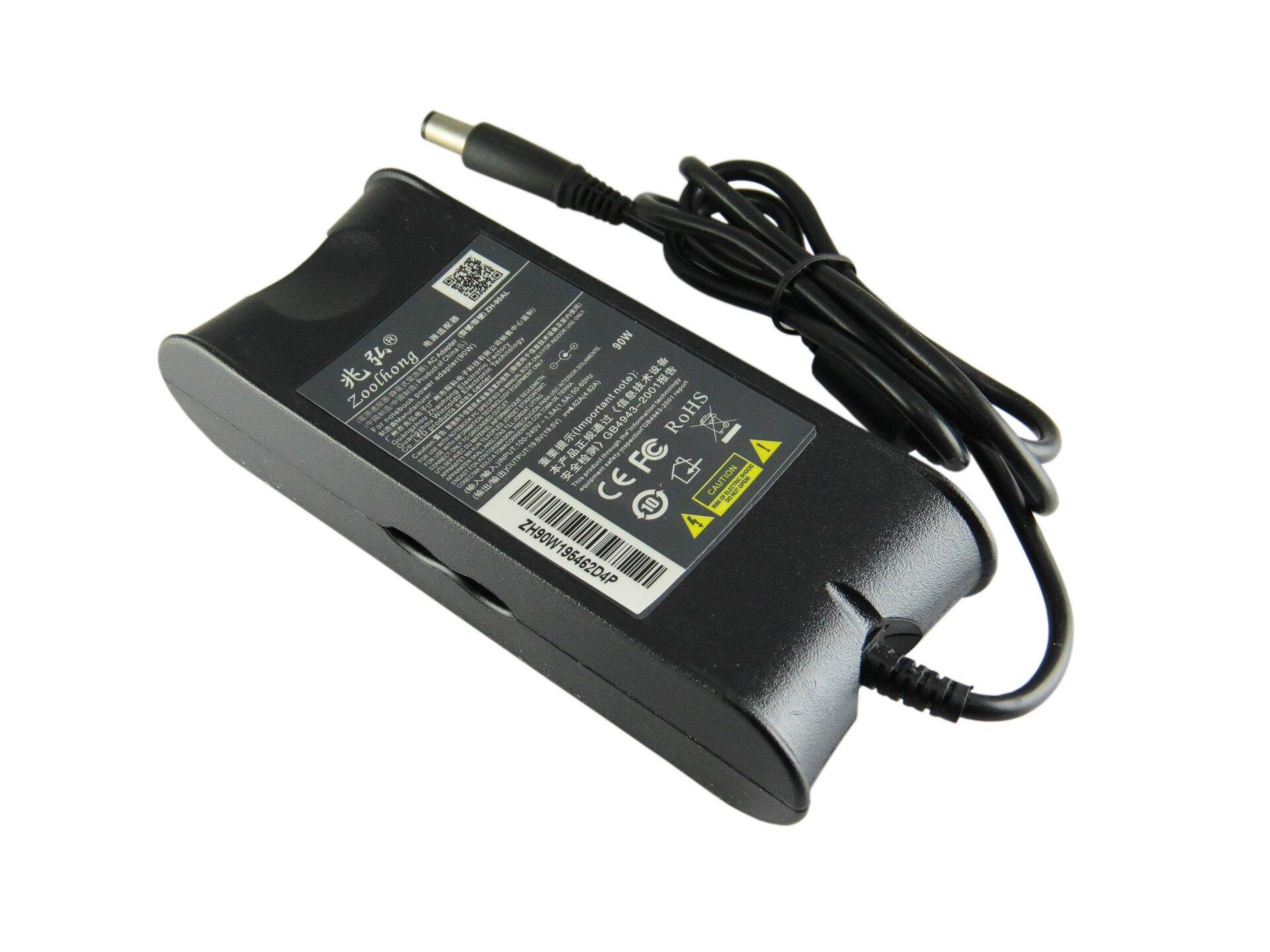 19.5 V 4.62A 90 W AC Adaptadores de corriente cargador para portátil Dell Ad-90195D Pa-1900-01D3 Df266 M20 M60 M65 M70 7.4mm * 5.0mm