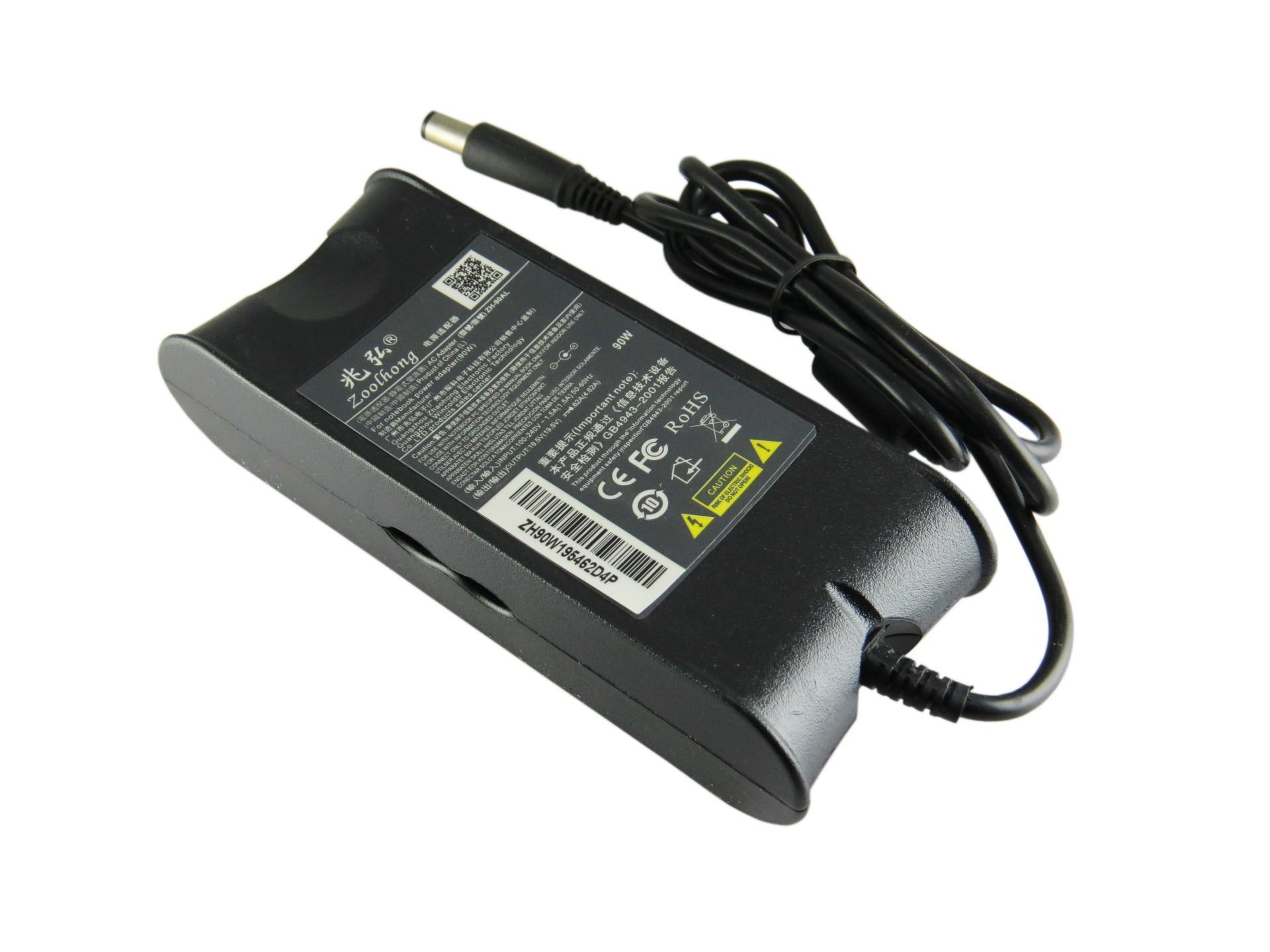 19.5 V 4.62A 90 W Ac Power Adapter Chargeur Pour Ordinateur Portable Dell Ad-90195D Pa-1900-01D3 Df266 M20 M60 M65 M70 7.4 Mm * 5.0 Mm